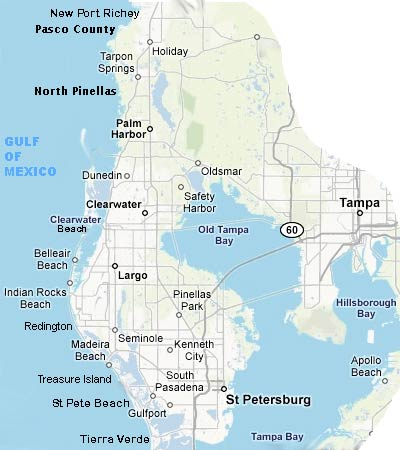 pinellas county florida map
