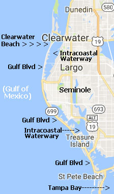 pinellas beaches waterfront map